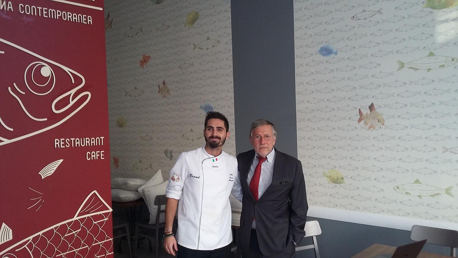 Lo chef Ilario Mazzeo e il patron Aldo Torregiani.
